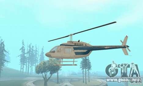 Bell 206B JetRanger II para visión interna GTA San Andreas