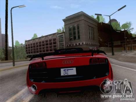 Audi R8 GT Spyder para la visión correcta GTA San Andreas