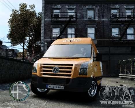 Volkswagen Crafter TNT para GTA 4 vista hacia atrás