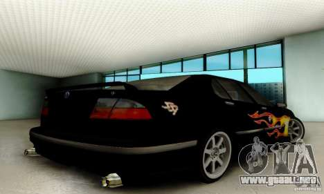 Saab 9-5 Sedan Tuneable para GTA San Andreas vista hacia atrás
