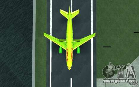 Airbus A310 S7 Airlines para GTA San Andreas vista posterior izquierda
