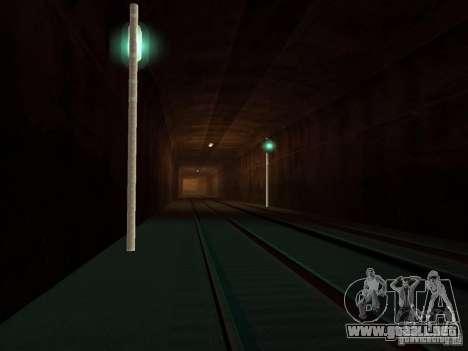 Luces de tráfico ferroviario para GTA San Andreas segunda pantalla