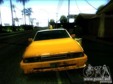 Sunrise Taxi para GTA San Andreas vista hacia atrás