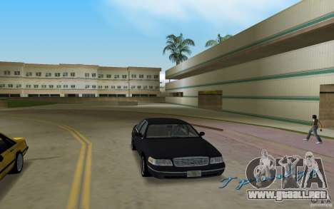 Ford Crown Victoria para GTA Vice City vista posterior