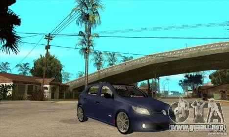 Volkswagen Gol Trend 1.6 para GTA San Andreas vista hacia atrás