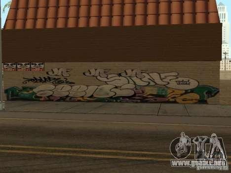 Los Santos ciudad graffiti leyendas v1 para GTA San Andreas segunda pantalla