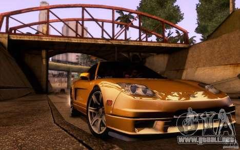 Acura NSX Targa para vista lateral GTA San Andreas