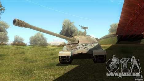 IS-7 Heavy Tank para GTA San Andreas vista posterior izquierda