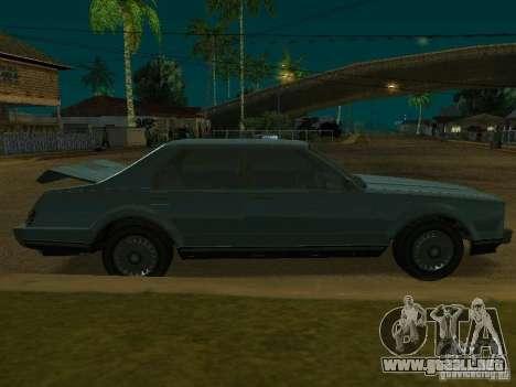 El taxi de romanos de GTA4 para GTA San Andreas vista hacia atrás