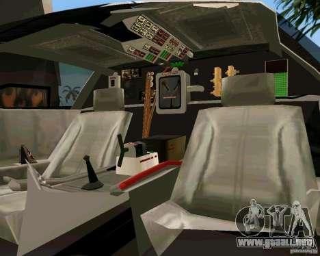 BTTF DeLorean DMC 12 para GTA Vice City vista lateral izquierdo