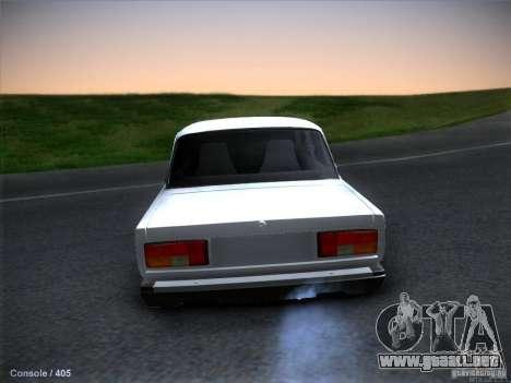 Vaz 2105 stock calidad para GTA San Andreas vista posterior izquierda