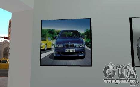 Concesionario BMW para GTA San Andreas sucesivamente de pantalla