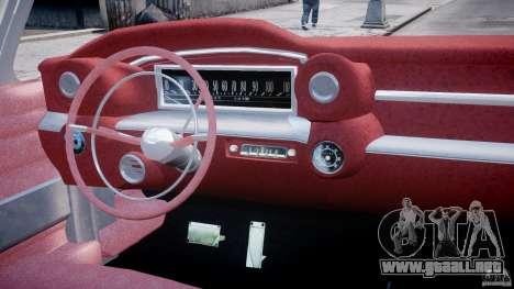 Cadillac Eldorado 1959 (Lowered) para GTA 4 visión correcta
