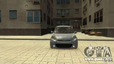 Nissan Micra para GTA 4 left