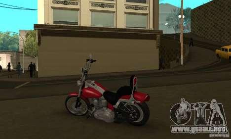 Harley Davidson softail Skin 1 para GTA San Andreas vista hacia atrás
