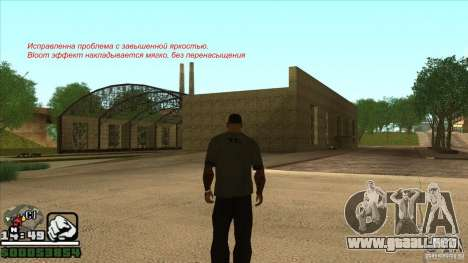 Real ENB Settings v3.0 The End version para GTA San Andreas sexta pantalla
