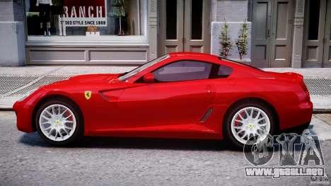 Ferrari 599 GTB Fiorano para GTA 4 Vista posterior izquierda