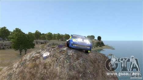 Subaru Impreza WRX STI Rallycross BFGoodric para GTA 4 vista hacia atrás