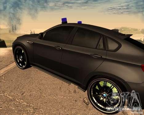 BMW X6 M E71 para la visión correcta GTA San Andreas