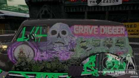 Grave digger para GTA 4 left