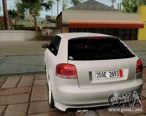 Audi S3 V.I.P para la visión correcta GTA San Andreas