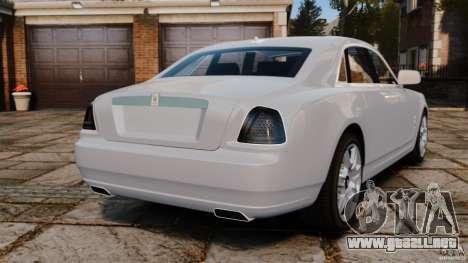 Rolls-Royce Ghost 2012 para GTA 4 Vista posterior izquierda