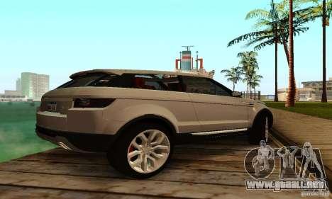 Land Rover Range Rover Evoque para la visión correcta GTA San Andreas