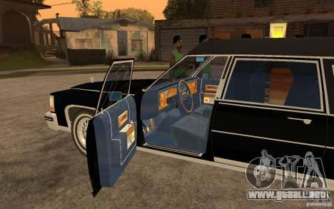 Cadillac Fleetwood Hearse 1985 para GTA San Andreas left