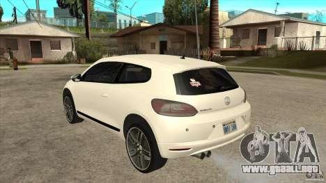 Volkswagen Scirocco 2009 para GTA San Andreas vista posterior izquierda