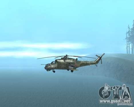 Mi-24P para la visión correcta GTA San Andreas
