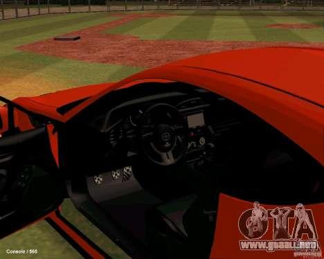 Scion FR13 para GTA San Andreas vista hacia atrás