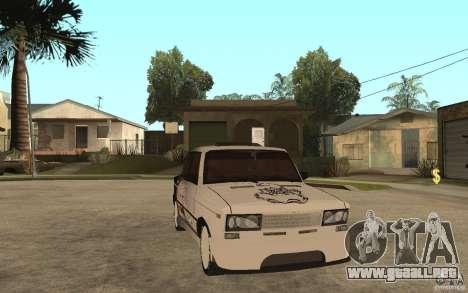 VAZ 2106 duro afinado para GTA San Andreas vista hacia atrás