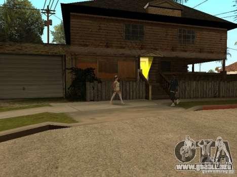 Girlz Medic in Grove para GTA San Andreas segunda pantalla