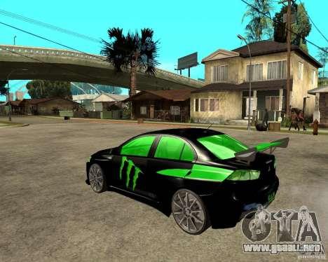 Mitsubishi Lancer Evolution X E&R Prod para GTA San Andreas left