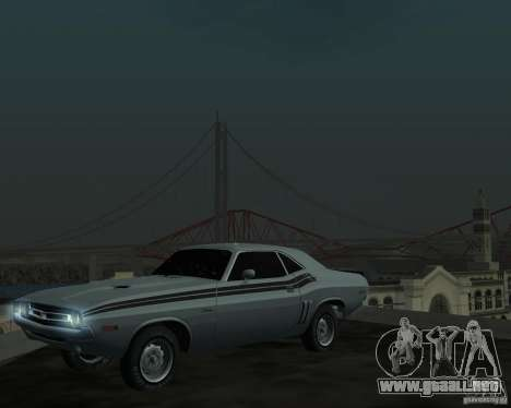 Dodge Chellenger V2.0 para GTA San Andreas left