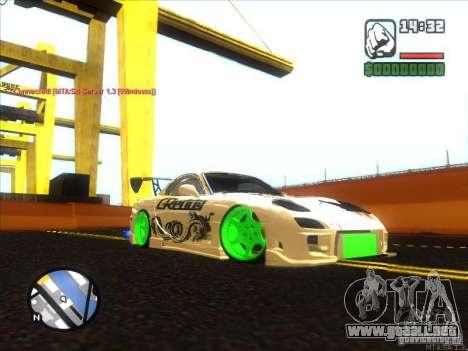 Mazda RX-7 Drift Version para GTA San Andreas vista posterior izquierda