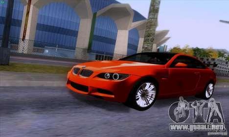 BMW M3 E92 v1.0 para visión interna GTA San Andreas