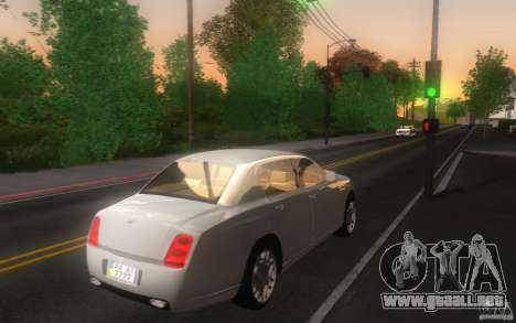 Bentley Continental Flying Spur para GTA San Andreas vista posterior izquierda