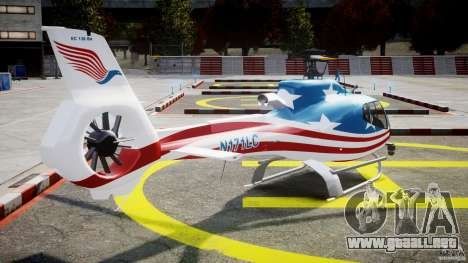 Eurocopter EC 130 B4 USA Theme para GTA 4 vista lateral