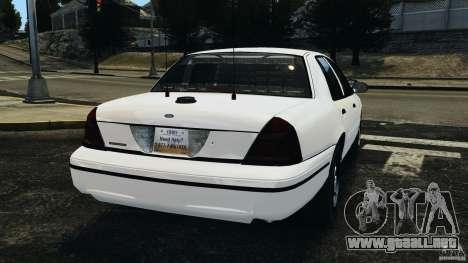 Ford Crown Victoria Police Unit [ELS] para GTA 4 Vista posterior izquierda
