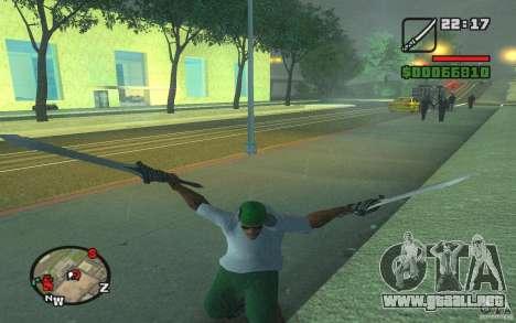 Espada de Dante de DMC 3 para GTA San Andreas segunda pantalla