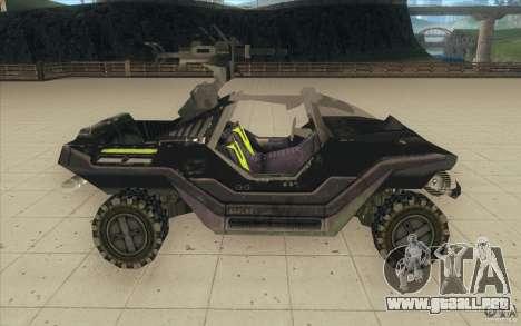 Halo Warthog para GTA San Andreas vista hacia atrás