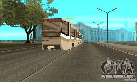 Tranvía 71-619 CT (KTM-19) para GTA San Andreas left