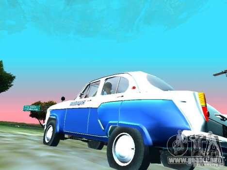 Moskvitch 403 con policía para GTA San Andreas vista hacia atrás
