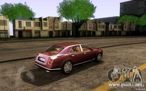 Bentley Mulsanne 2010 v1.0 para GTA San Andreas vista hacia atrás
