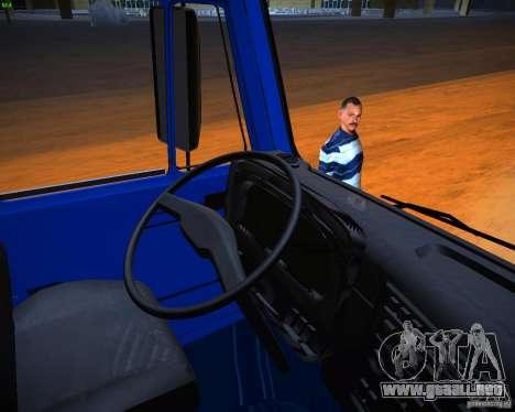 KAMAZ 65117 grano para GTA San Andreas vista hacia atrás