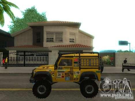 Land Rover Defender Off-Road para GTA San Andreas left
