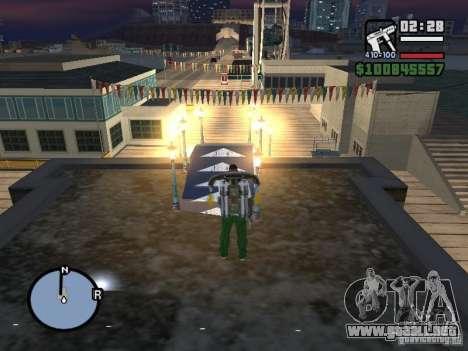 Night moto track para GTA San Andreas quinta pantalla