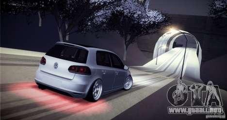 Volkswagen Golf VI 2010 Stance Nation para vista inferior GTA San Andreas