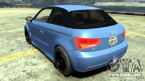 Audi A1 para GTA 4 Vista posterior izquierda